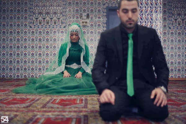 beautiful picture of a beautiful of a Muslim couple
