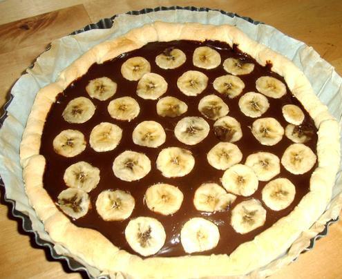 Tarte à la banane et au chocolat