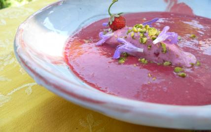 Soupe fraises - framboises