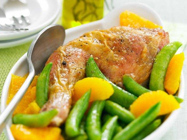 Aspic de poulet et petits pois
