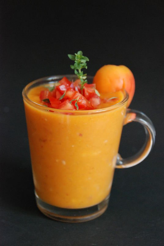 Gaspacho aux abricots