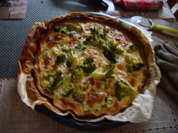 Une tarte au brocoli