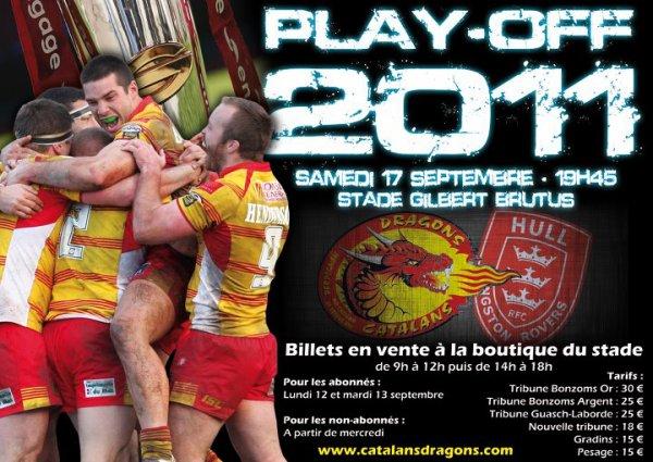 PLAY OFF a Perpignan !!! RDV Samedi ! Dragons VS Hull Hr ! Huitième de Finale or Permier tour des Play Off ! !