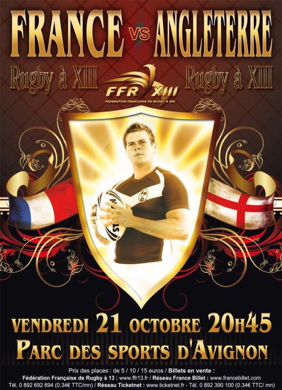 Nouveau match de l'Equipe de France de Rugby a XIII