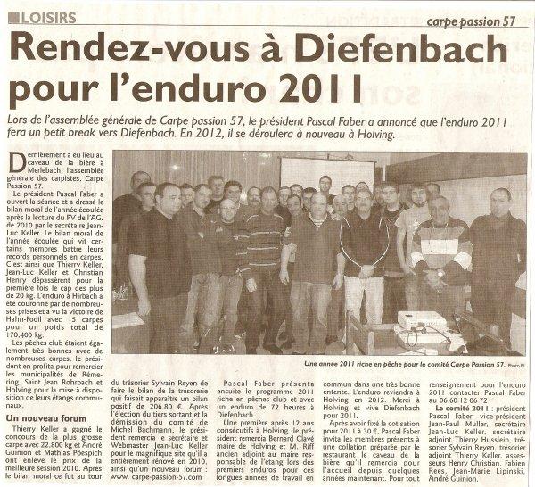 Article du Républicain Lorrain du 25/02/2011