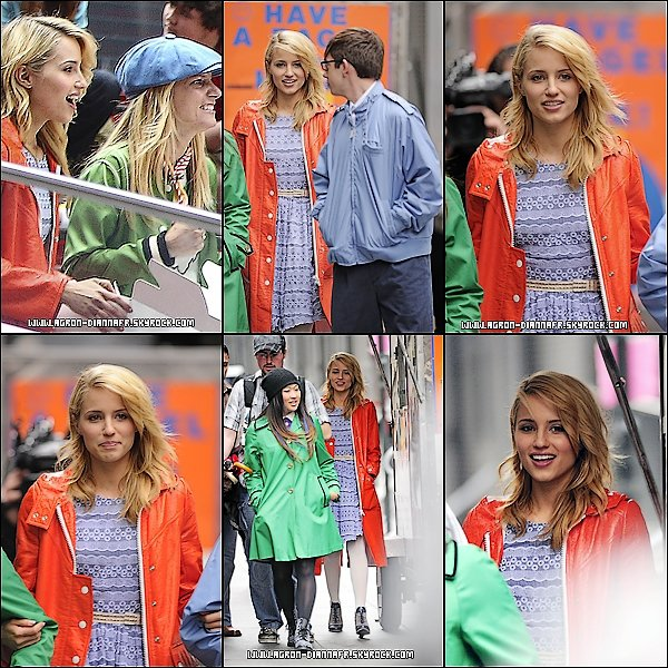 Le 25 Avril: Dianna A. sur le tournage de Glee à New York.