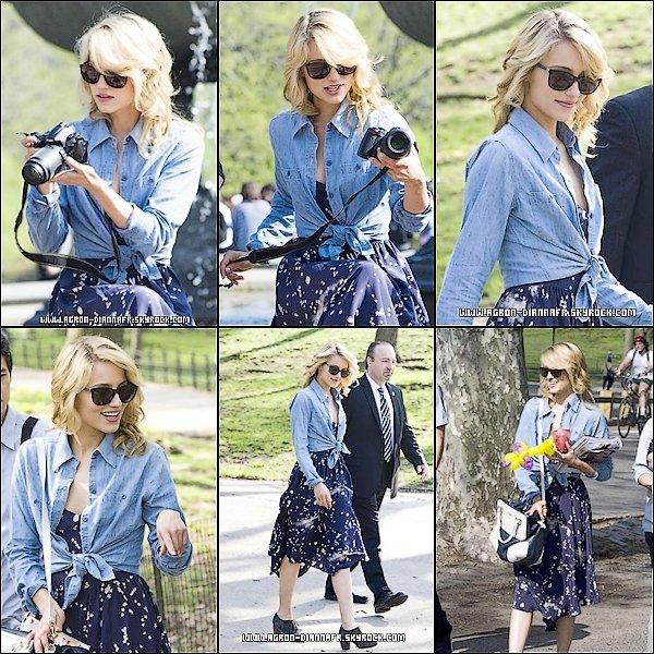 Le 26 avril: Dianna sur le tournage de Glee à Central Park