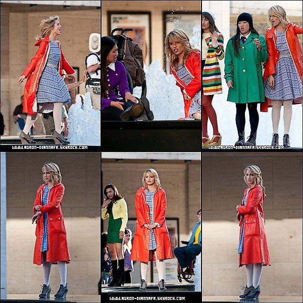 Le 26 Avril: D'autres photos de Dianna sur le tournage de Glee.