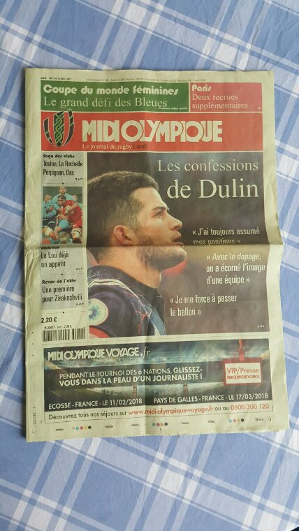 BIBLE DU RUGBY  7 / 8 / 2017