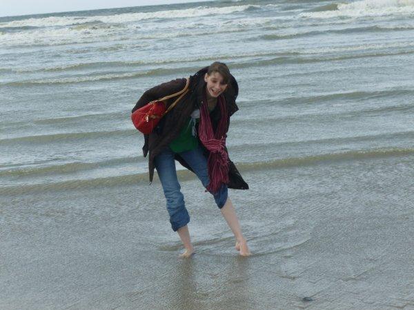 A Deauville les pieds dans l'eau :)