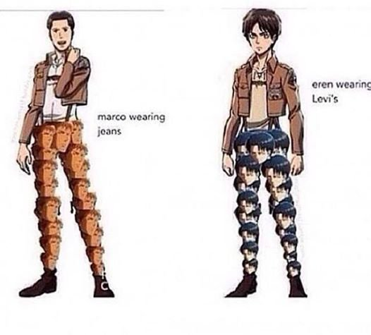 Nice pant Eren and Marco x)
