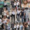. 04.09.10 : Miley se promenant à Paris avec ses co-stars. Le tournage des scènes se dérouleront lundi..