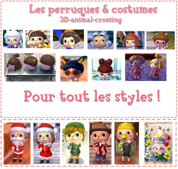 Les perruques et costumes blog de 3d animal crossing - Coupe animal crossing wii ...
