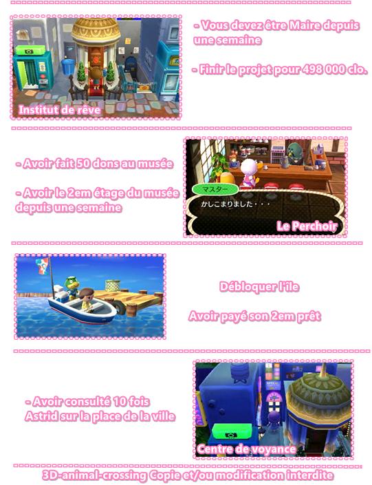 Les boutiques + l'île
