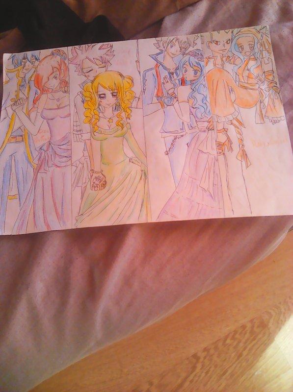 Dessin pour un concours! Couple of Fairy Tail