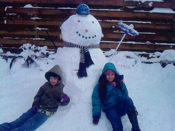 bonhomme de neige  de mon titou et de Carolina