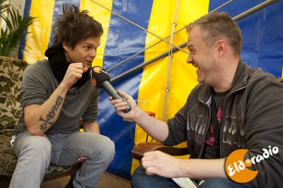 Lauri en interview aux Terre Rouges (Luxembourg) (le 5/09/2010)