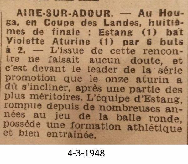 Coupe des Landes 1947-48