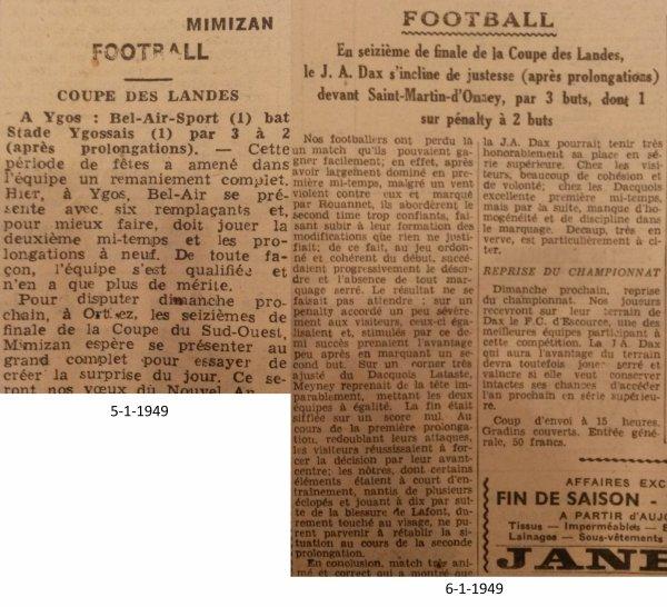 Coupe des Landes 1948-49