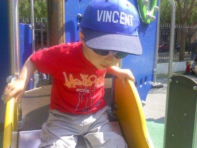 Vincent à Nice ( les parcs  )