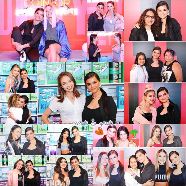 """16/05/18 : Selena Gomez était présente à l'événement de la marque Puma """"Selena Gomez x Defy City"""" se déroulant aux studios Paramount situé à Los Angeles, en Californie. Elle y a également effectué un meet & greet où elle a pu rencontrer de nombreux fans. Je lui accorde un top! Ton avis?"""