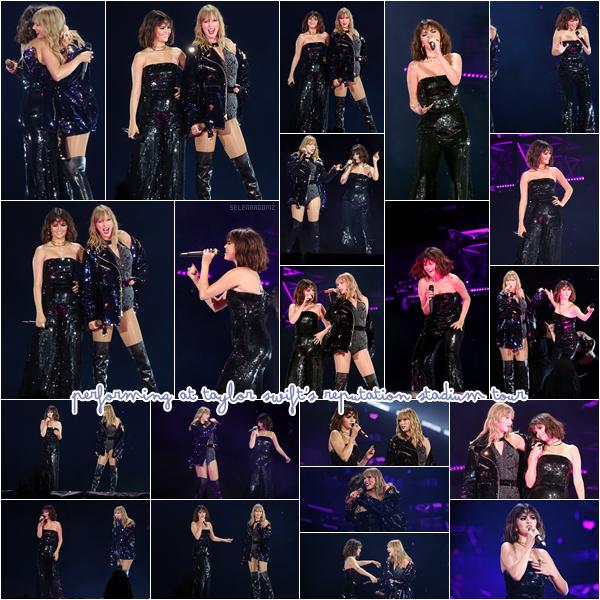 """19/05/18 : Selena Gomez a performé durant un concert de Taylor Swift dans le carde de sa tournée """"Reputation Stadium"""" qui se déroulait à Pasadena, en Californie. La belle a rendu visite à sa bff durant sa tournée et a chanté avec elle le titre """"Hands To Myself"""". Un très gros top! Ton avis?"""