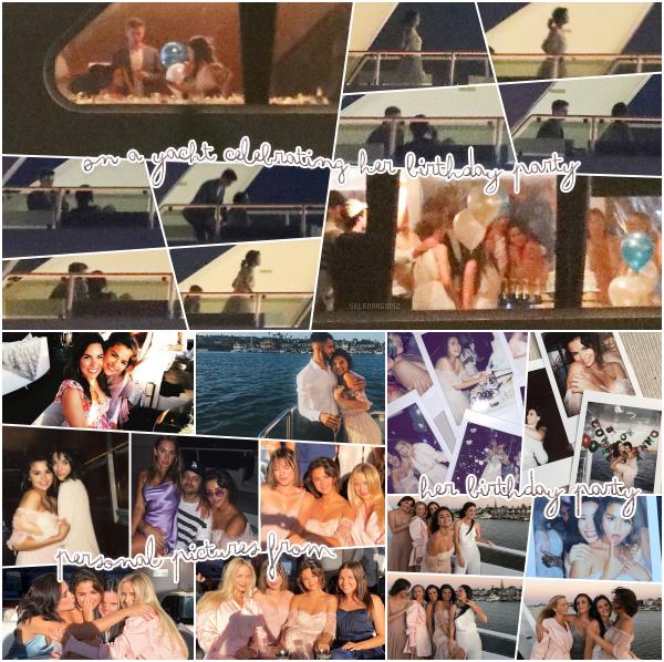 22/07/18 : Selena a été vue sur un yacht fêtant son 26ème anniversaire à Newport Beach, en CA. Différentes photos de sa fête d'anniversaire a été posté sur les réseaux sociaux. Le thème de sa fête était sur l'Italie. Un top!