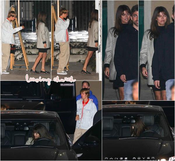 14/02/18 : Selena Gomez à été aperçue quittant une église située à Los Angeles, en Californie. Elle était accompagnée par son boyfriend Justin Bieber. Niveau tenue, on ne la voit pas très bien. Un bof! Ton avis?