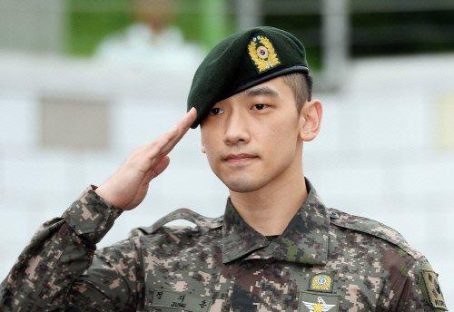 Rain à finit son service militaire