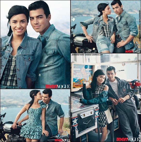 """Photos 2010 Je vous présente des photos de Joe Jonas accompagné de Demi Lovato, photographiée pour le magazine """"Teen Vogue"""" dont je n'ai pas trouver le nom du photographe :/"""