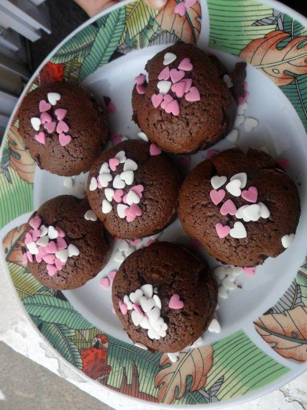 Mes gâteaux que j'ai fait si vous vouler la recette hésiter pas a me demander bisous