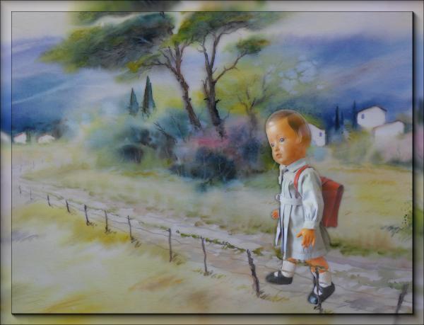Sur le chemin de l'école -  sept 52