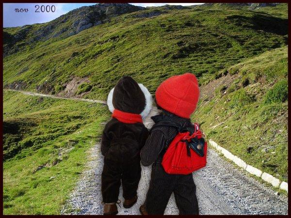 Les enfants à la montagne