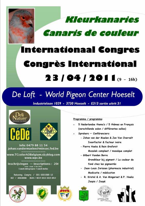 Congres Kleurkanaries / Congrès Canaris de Couleur  / 23 - 0 4 - 2011 /