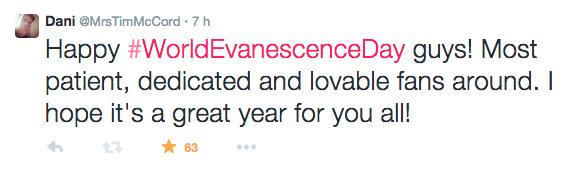 04 Mars 2015 : Journée Mondial d'Evanescence