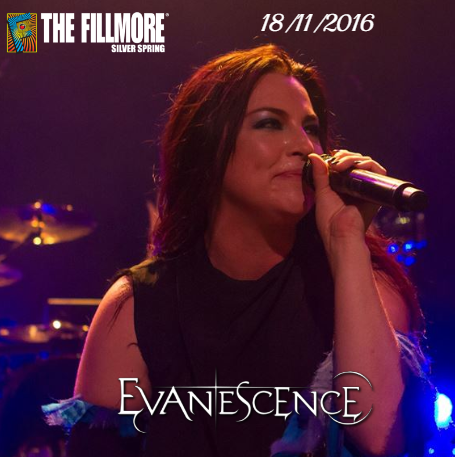 Review : Evanescence - Fillmore Silver Spring/MD 18/11/16 Partie II