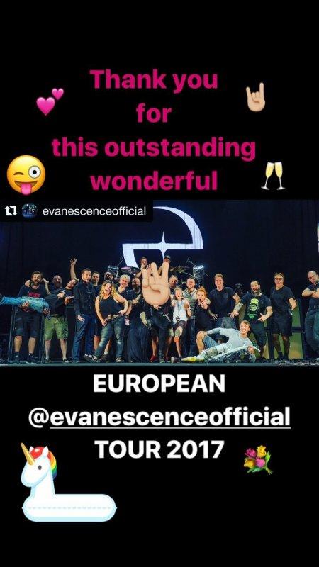 Evanescence Reviews #EuropeanTour2017