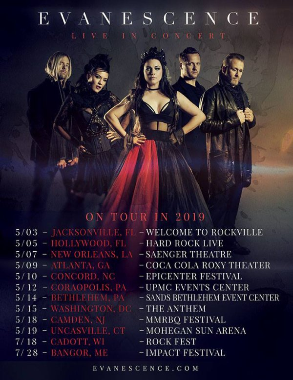 Evanescence Reviews #SpringTour2019 #SummerTour2019 USA/CANADA