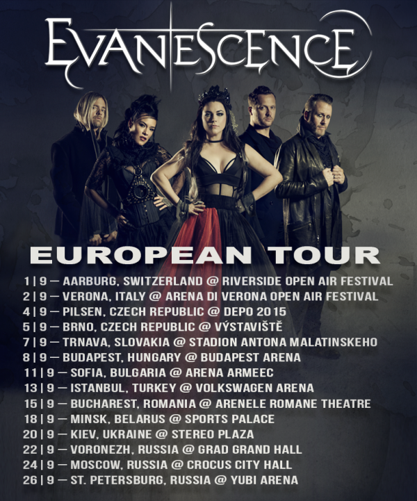 Evanescence Reviews #EuropeanTour #EvanescenceEuroTour