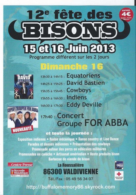 FETE DES BISONS 15 ET 16 JUIN 2013
