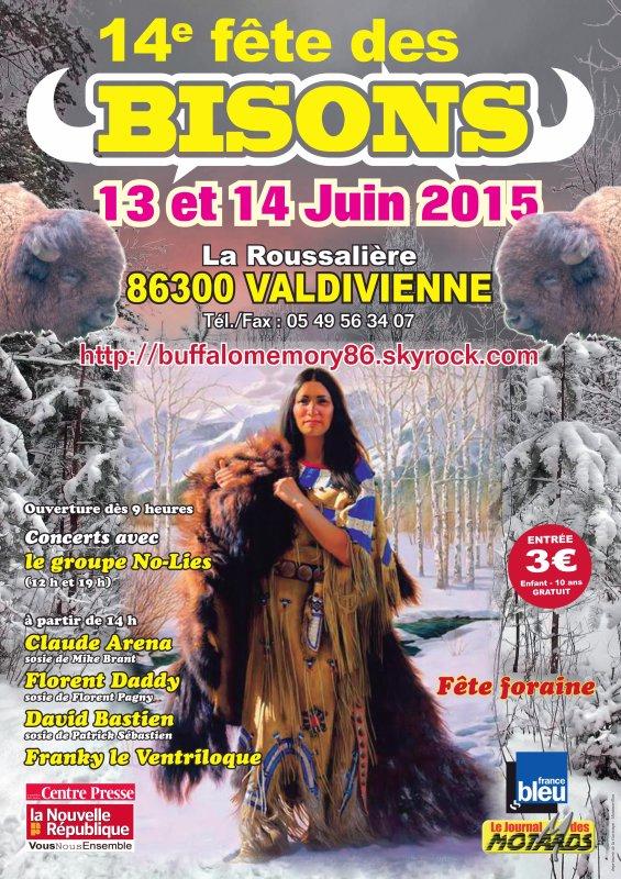FÊTE DES BISONS 13 ET 14 JUIN 2015