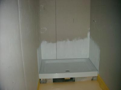 Pose du receveur de douche voici l 39 evolution des travaux de ma maison - Pose receveur de douche ...