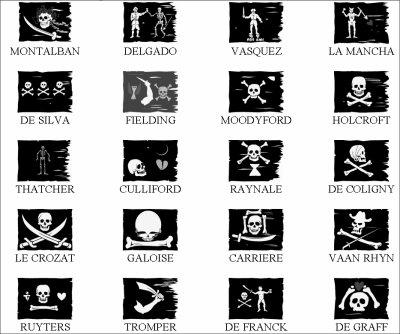 drapeaux se pirates