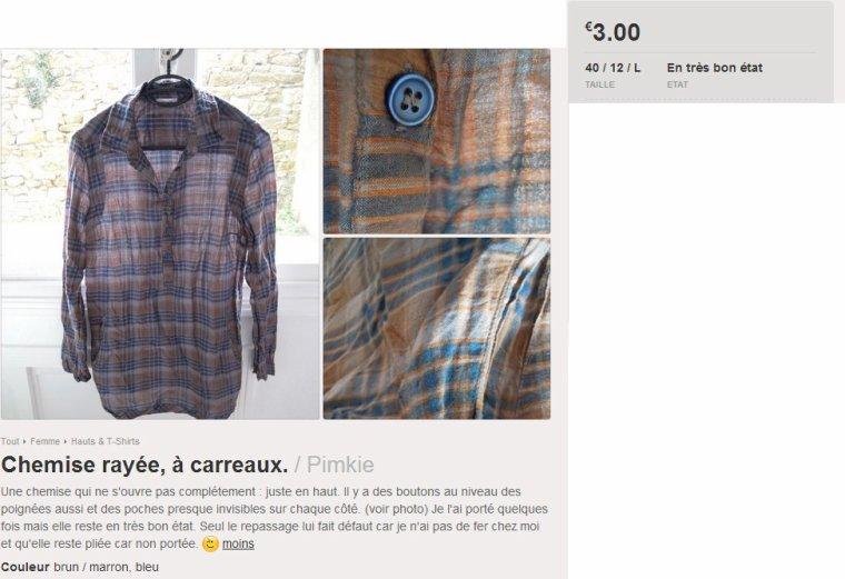 Chemise rayée/carreaux, Pimkie
