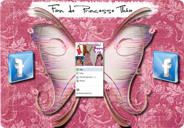 "Page Fan Facebook ""Fan de Princesse Théa"""