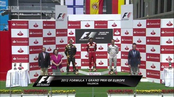 Kimi Räikkönen termine 2ème du Grand Prix d'Europe 2012...