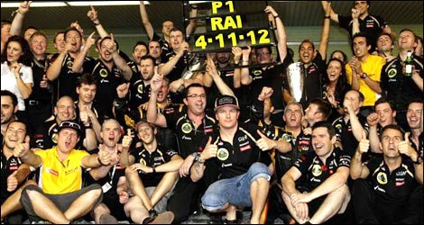 Kimi Räikkönen égal à lui-même après sa victoire...