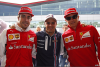Fernando Alonso, Felipe Massa & Kimi Räikkönen