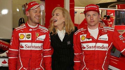 Nicole Kidman, Sébastian Vettel & Kimi Räikkönen
