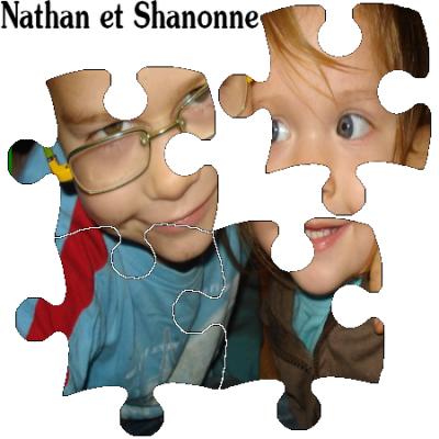 Mes enfants Nathan et Shanonne